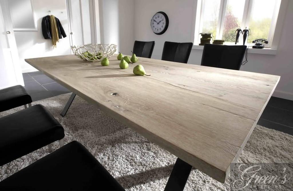 esstisch pavona stahlbeine platte balkeneiche dam 2000 ltd co kg. Black Bedroom Furniture Sets. Home Design Ideas