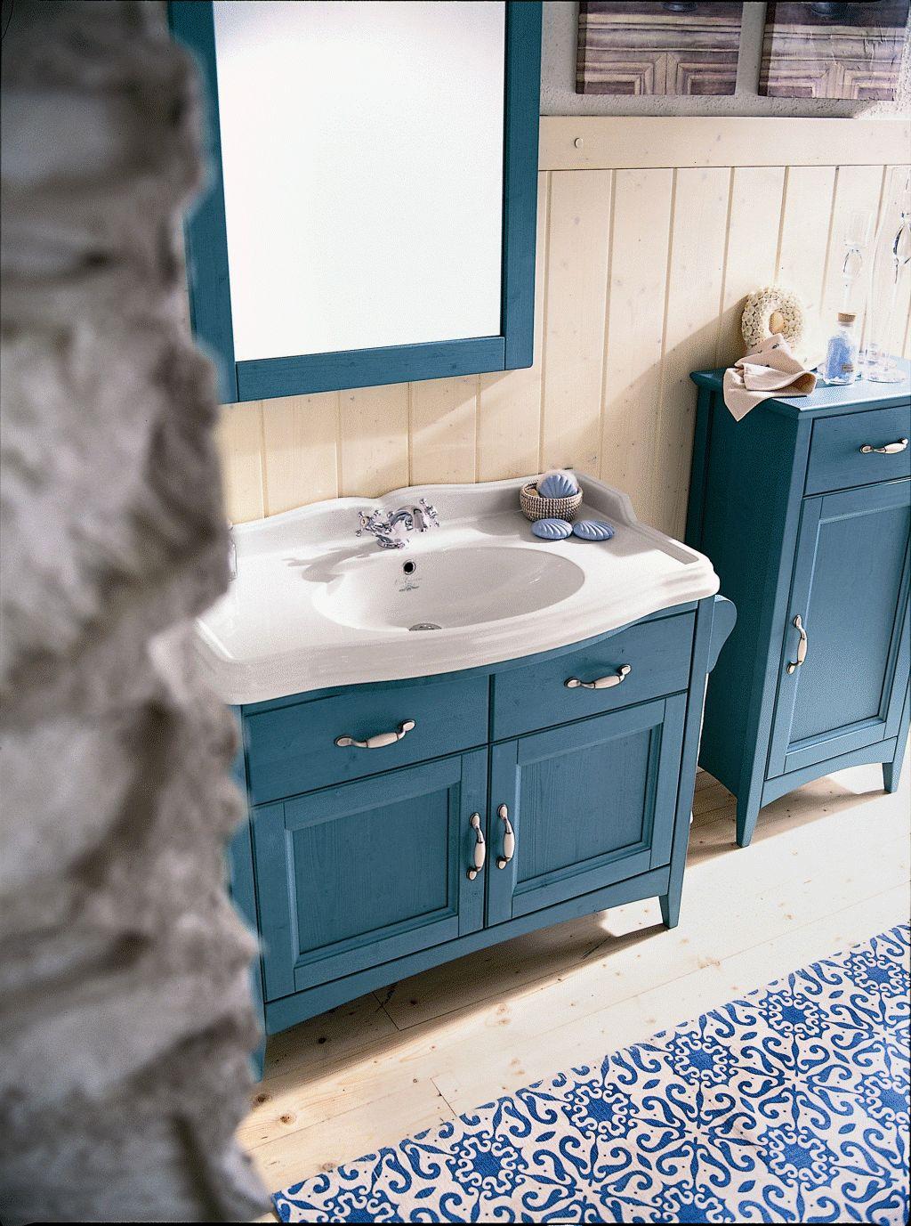 Badmobel Landhausstil Blau Raffiflorist Com
