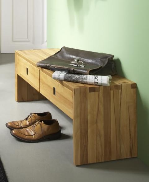 sitzbank 2 schubladen kernbuche wildeiche dam 2000. Black Bedroom Furniture Sets. Home Design Ideas