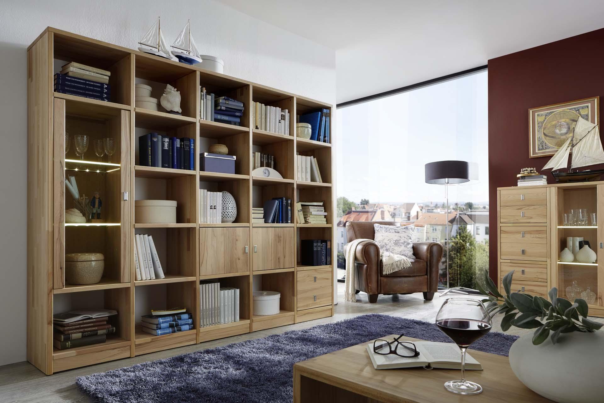 regalwand kernbuche mix it dam 2000 ltd co kg. Black Bedroom Furniture Sets. Home Design Ideas