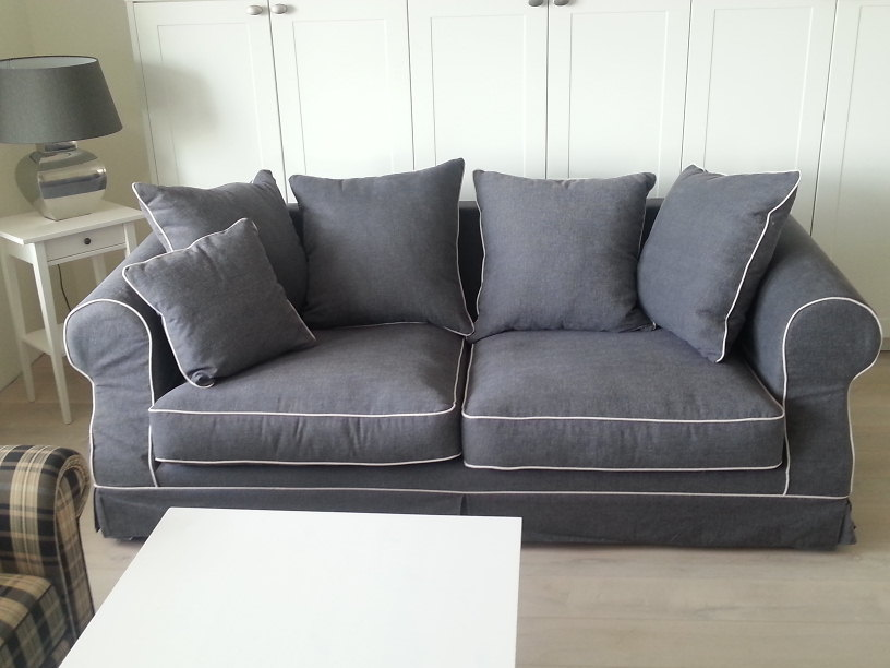 Sofa stoff  Hussensofa, Modell Elena, Pillowback - DAM 2000 Ltd. & Co KG