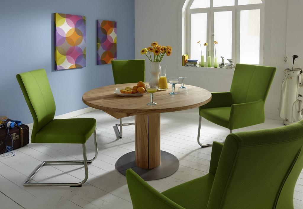 esstisch rund ida wildeiche eiche dam 2000 ltd co kg. Black Bedroom Furniture Sets. Home Design Ideas